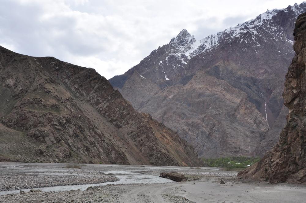 Bartang-Tal, Fluss und Berge