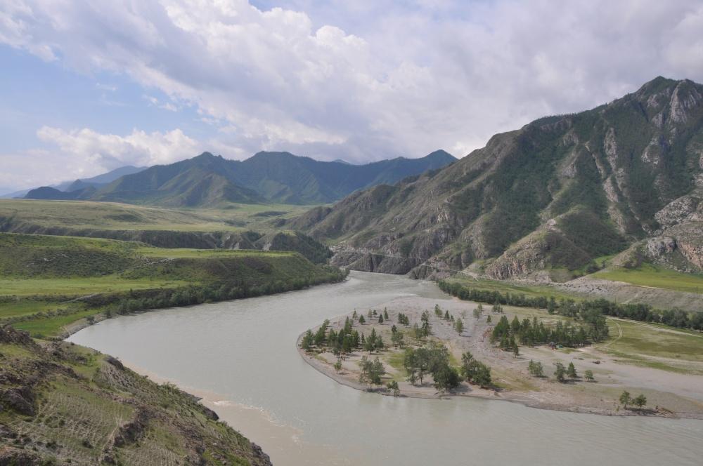 Breiter Fluss Katun