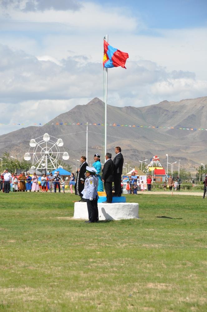 Fahnenaufzug Naadam