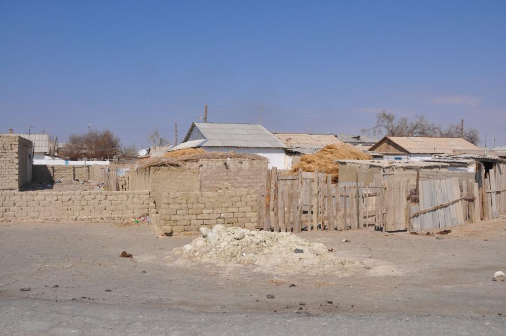 Fischerdorf Moynaq in der Wüste