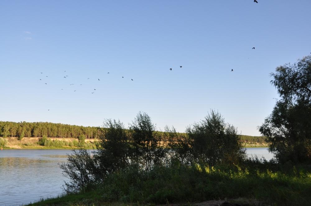 Fluss Irtysch bei Omsk