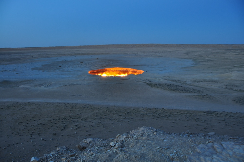 Gaskrater in Darvaza, Turkmenistan