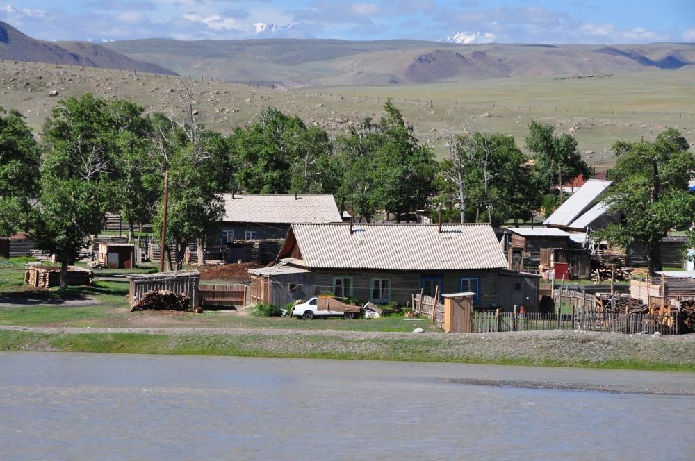 Häuser am Fluss