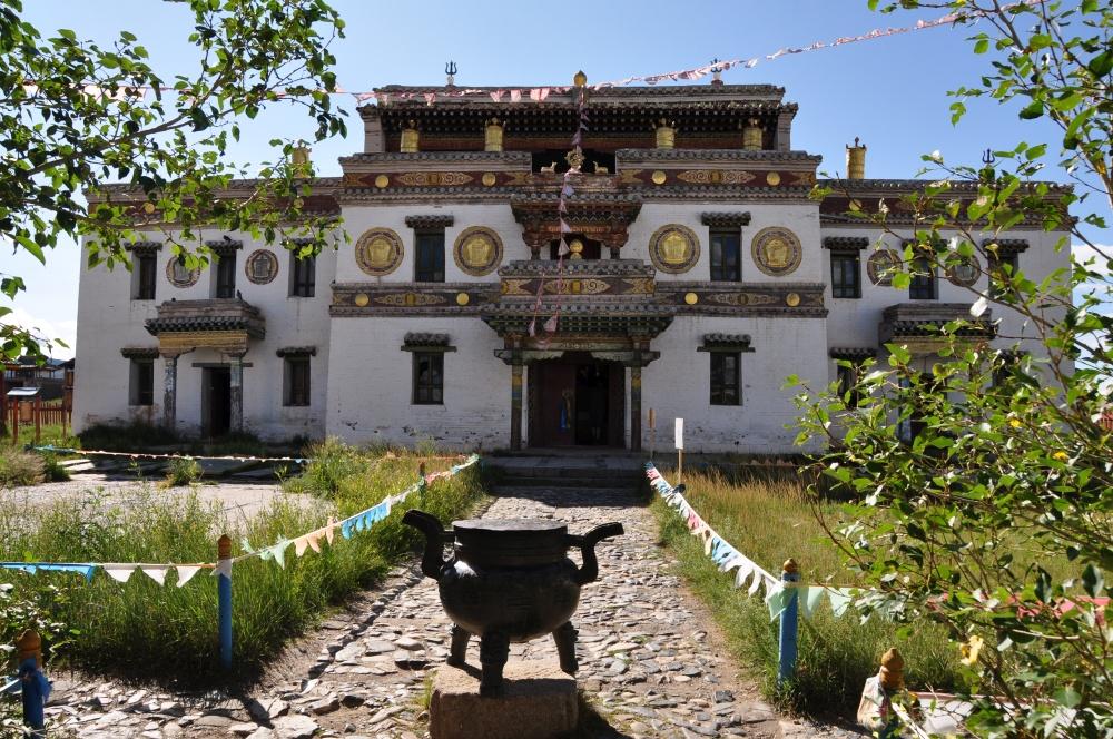 Haupteingang bewohnte Kloster Erdene Zuu