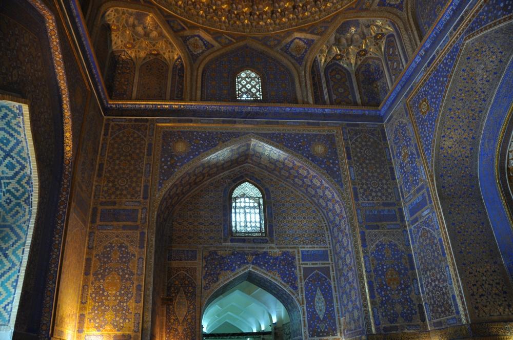 Kuppen in der Tilla-Kari Medressa, Samarkand