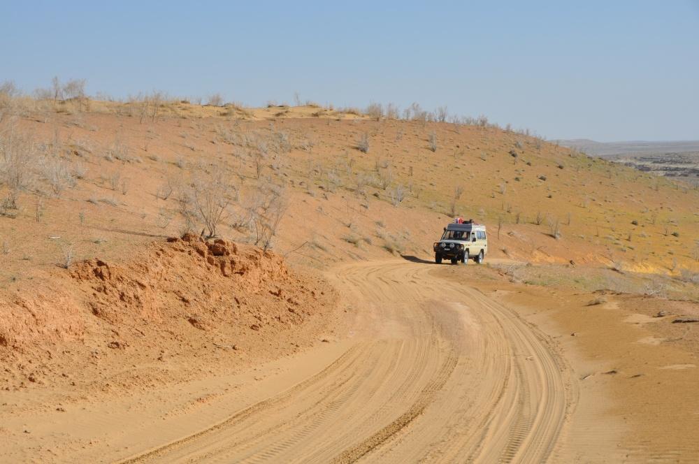 Manny in der Wüste Karakum