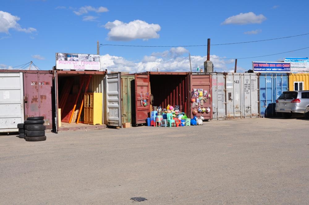 Marktkontainer bei Kharkhorin