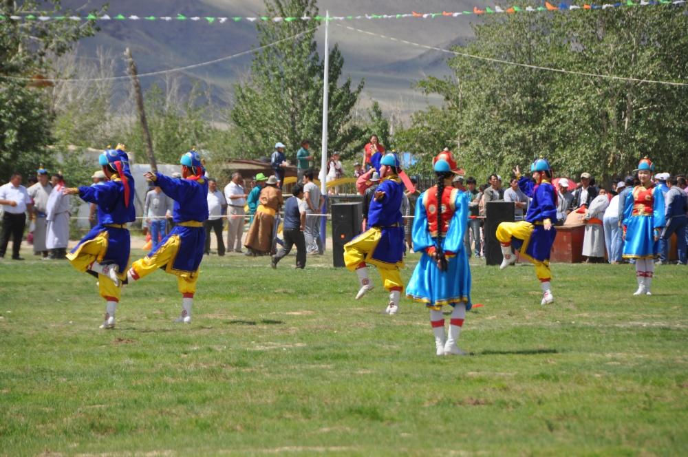 Mongolische Tanzgruppe