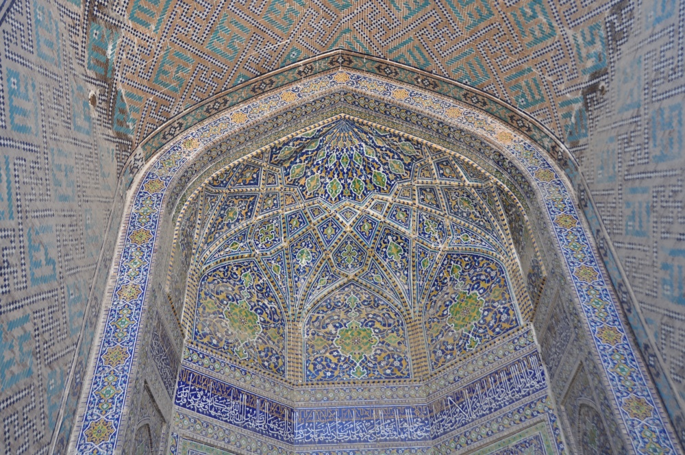 Mosaikhimmel in der Sher Dor Medressa, Samarkand