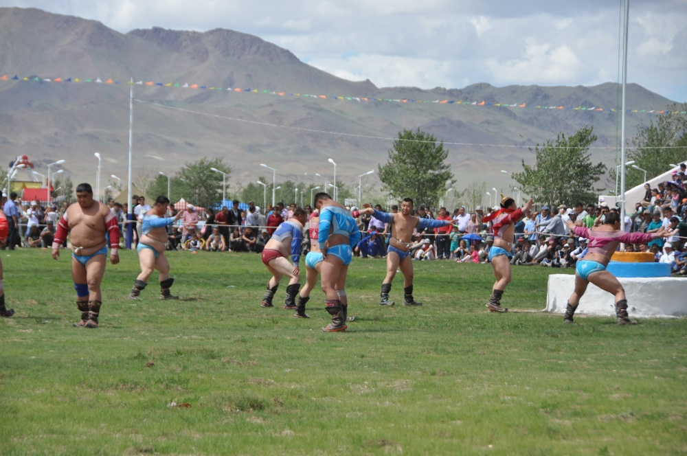 Ringer am Naadam