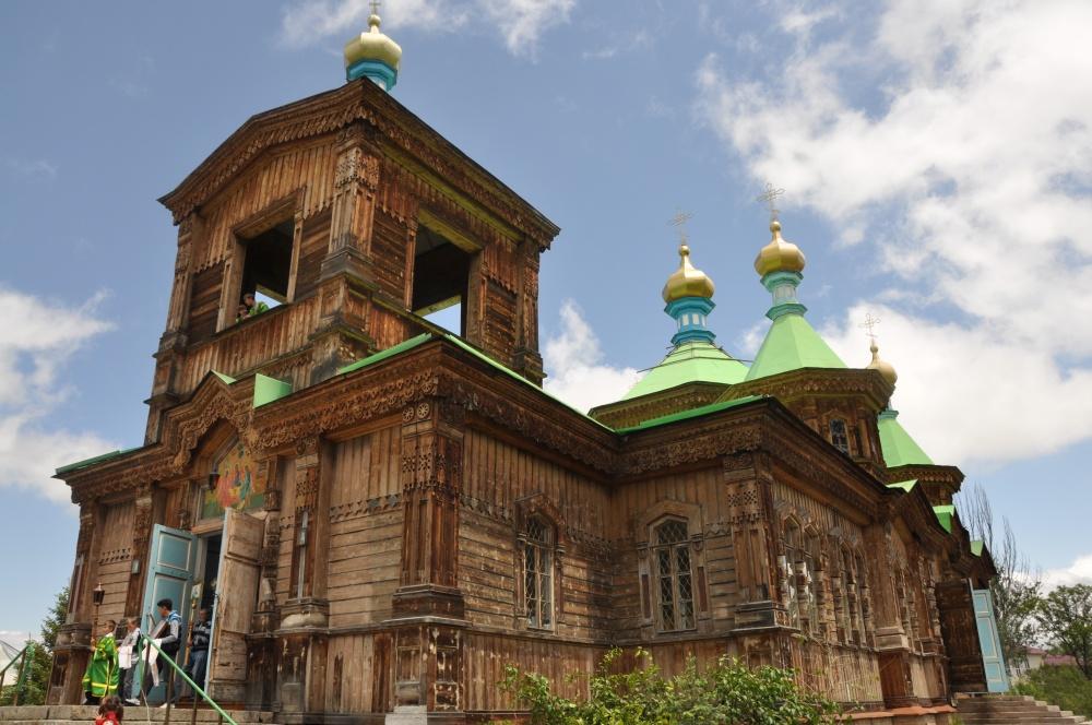 Russische Holzkirche in Karakol