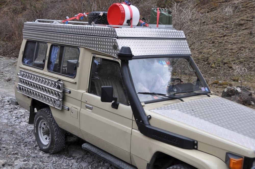 Sandblech klappbar Land Cruiser Reisefahrzeug