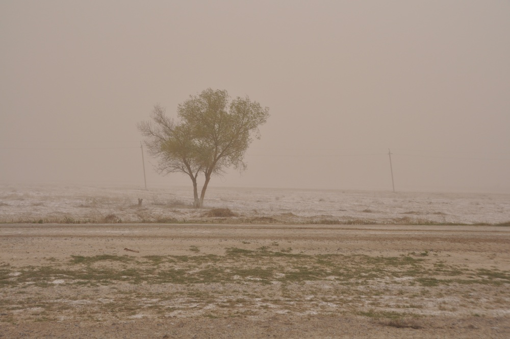Sandsturm in Turkmenistan