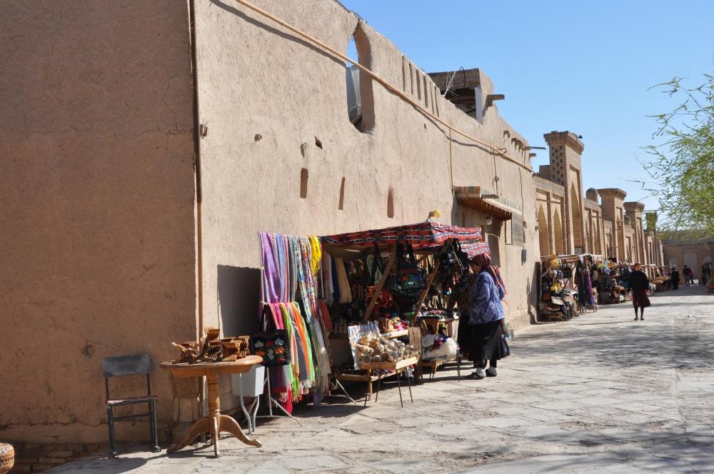 Touristenstände in Khiva