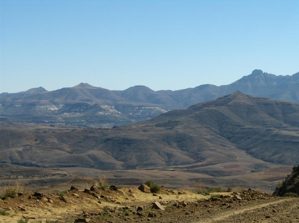Bergketten in Lesotho