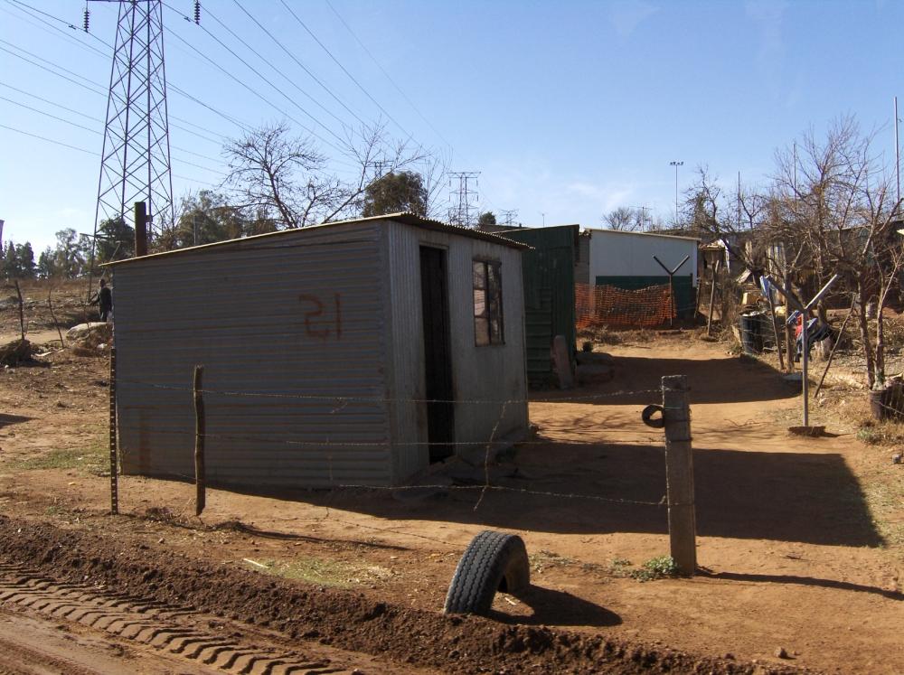 Einraumhaus in Soweto