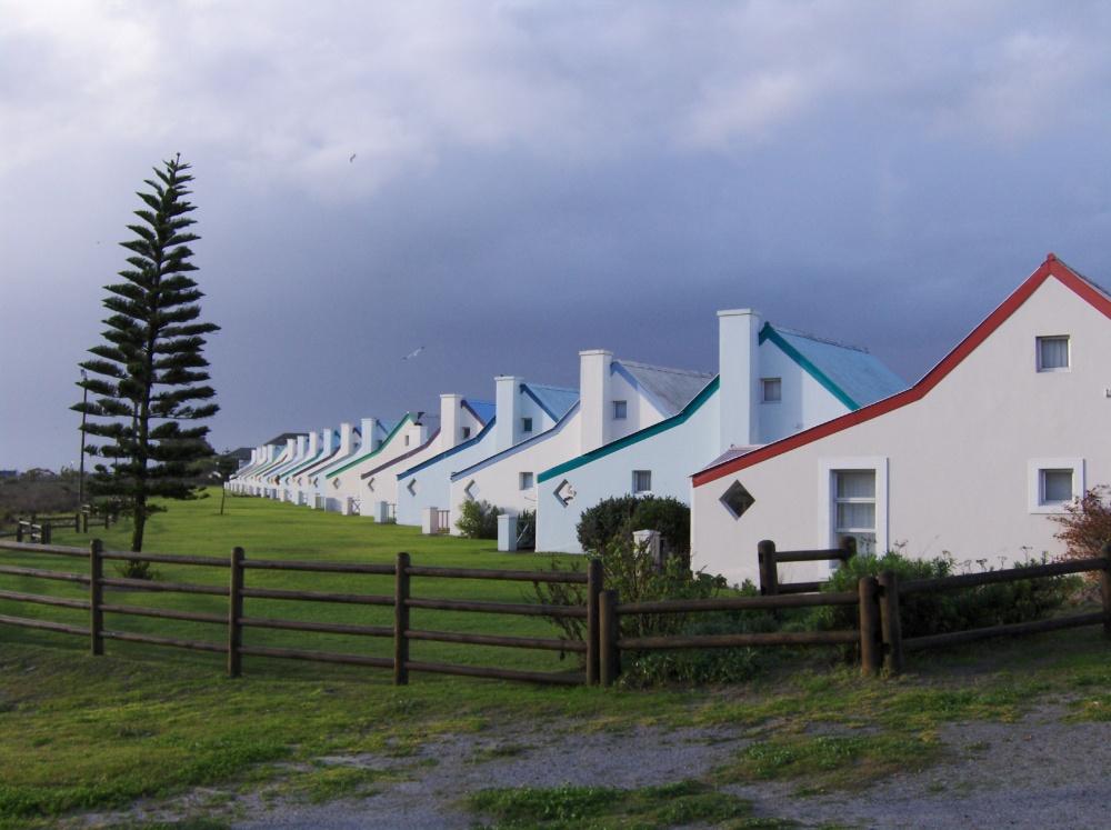 Häuserreihe in Langebaan