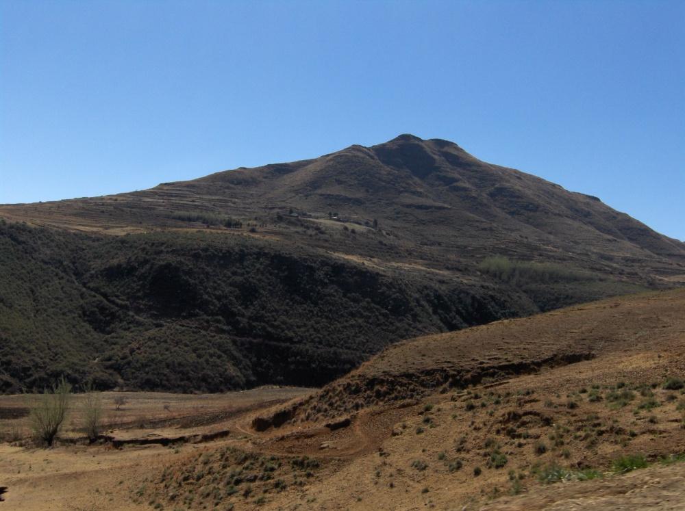 Hügel in Lesotho