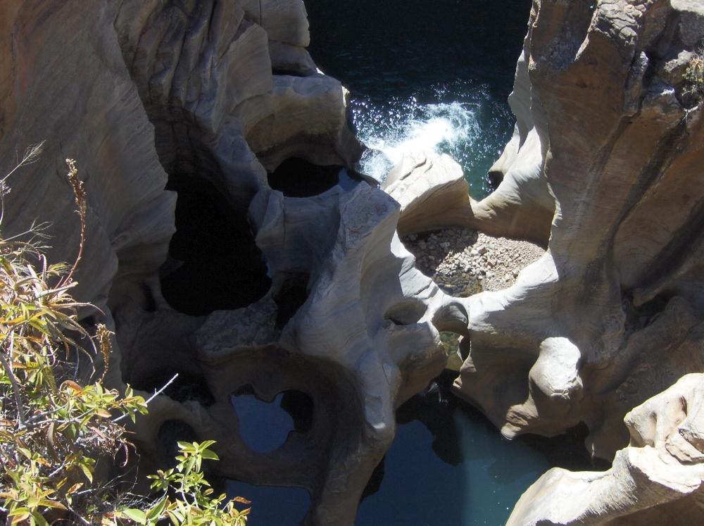 Im Canyon geschliffene Felsen