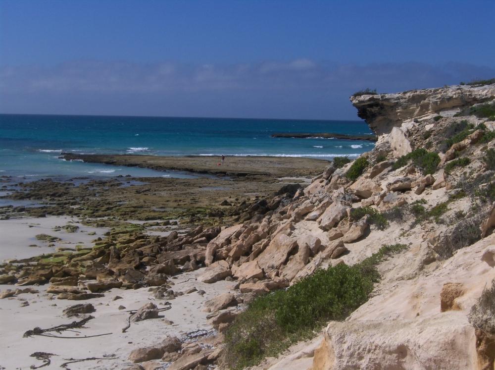 Küste beim südlichsten Punkt Afrikas