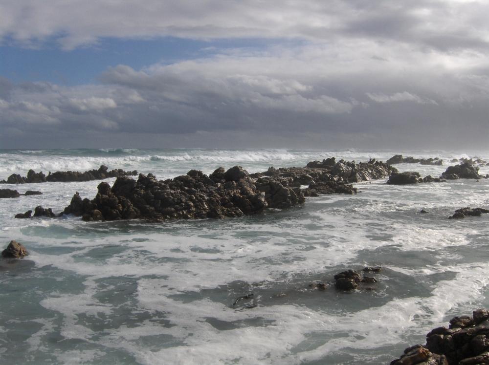 Meer am südlichsten Punkt von Afrika