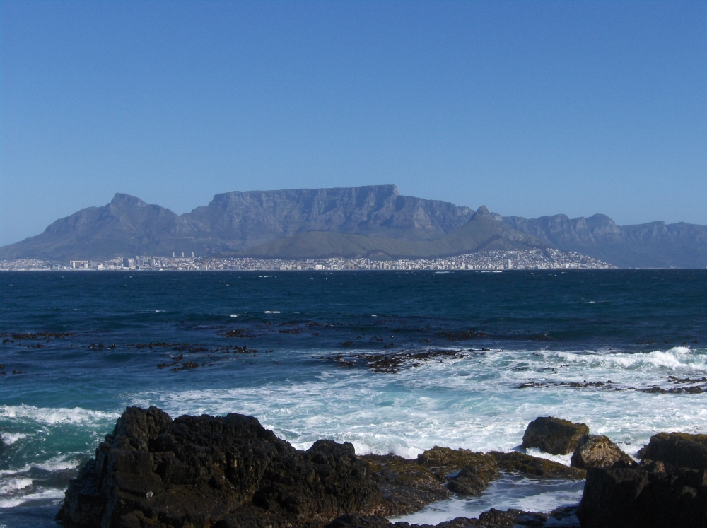 Meer, Table Mountain, Kapstadt