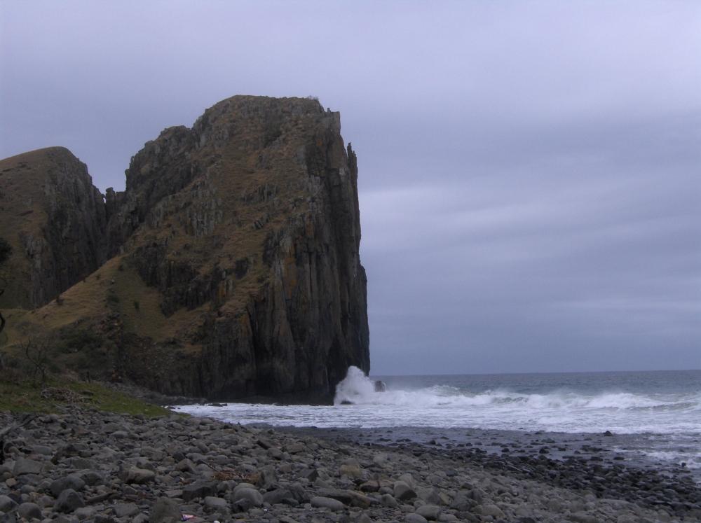 Steinige Klippen an der Wild Coast