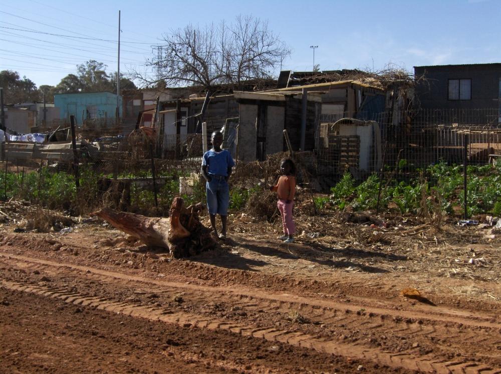 Wellblechhütten in Soweto