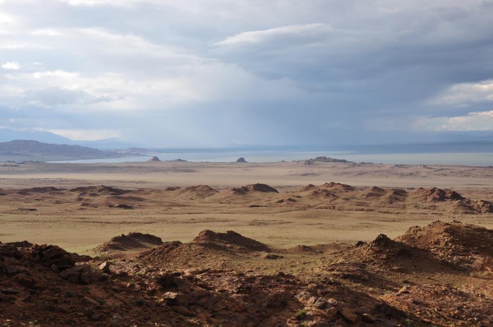 Rote Granitfelslandschaft