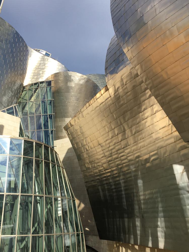 Ausschnitt Gebaeude Guggenheim Museum Bilbao