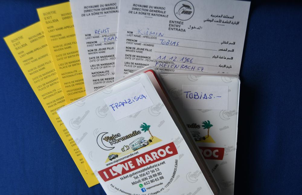 Einreiseformular Ausreiseformular Marokko Pass