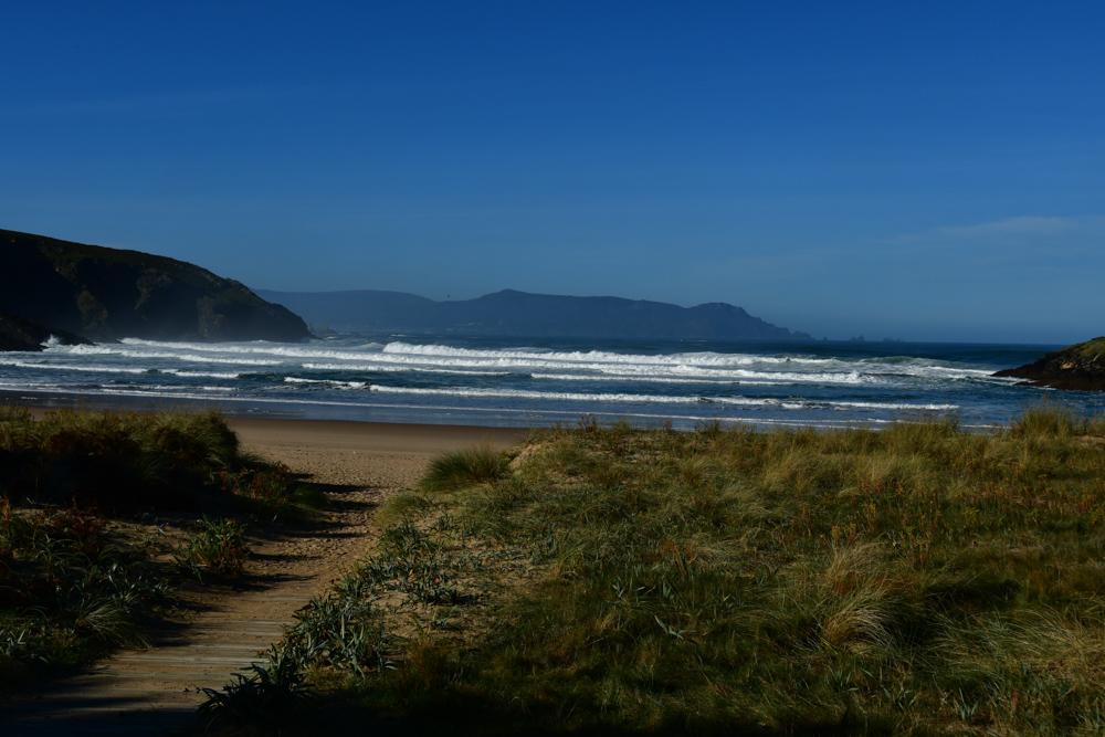 Sandweg an Srand Meer Galicien