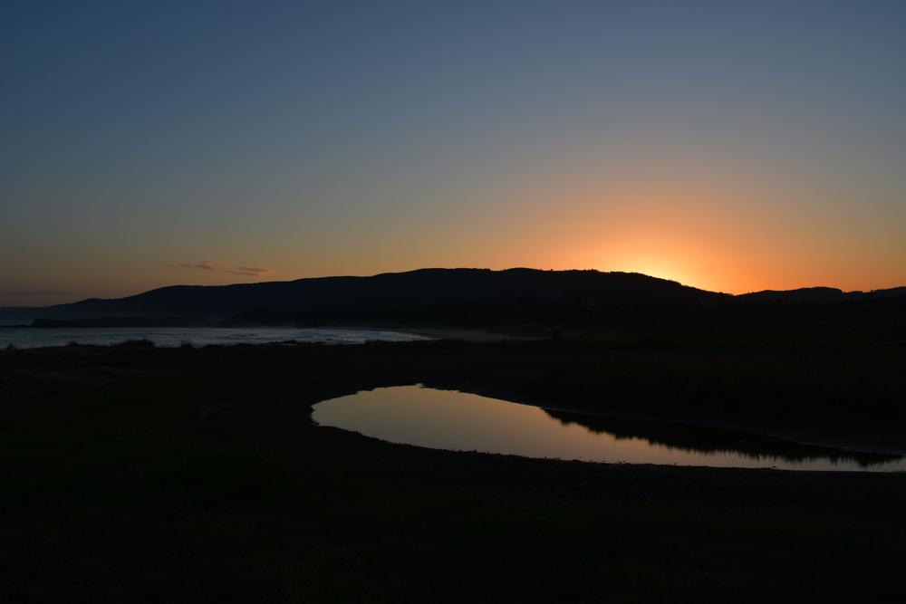 Sonnenaufgang Pfütze Meer