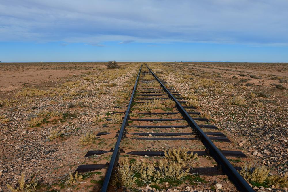 Eisenbahngleis auf Hochebene Rekkam