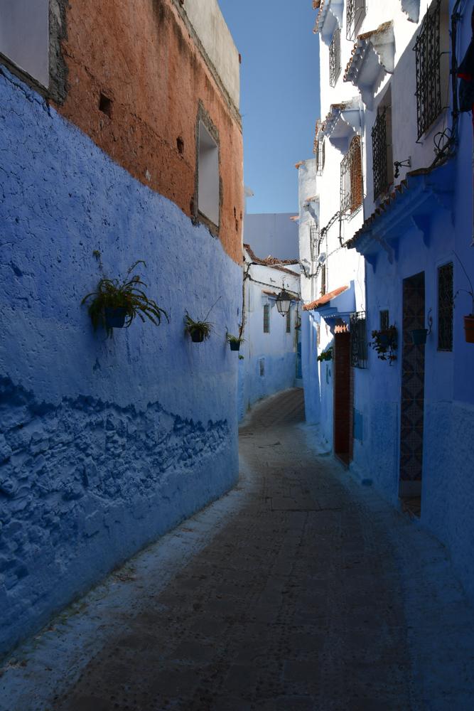 Gasse Chefchaouen blaue Fassade