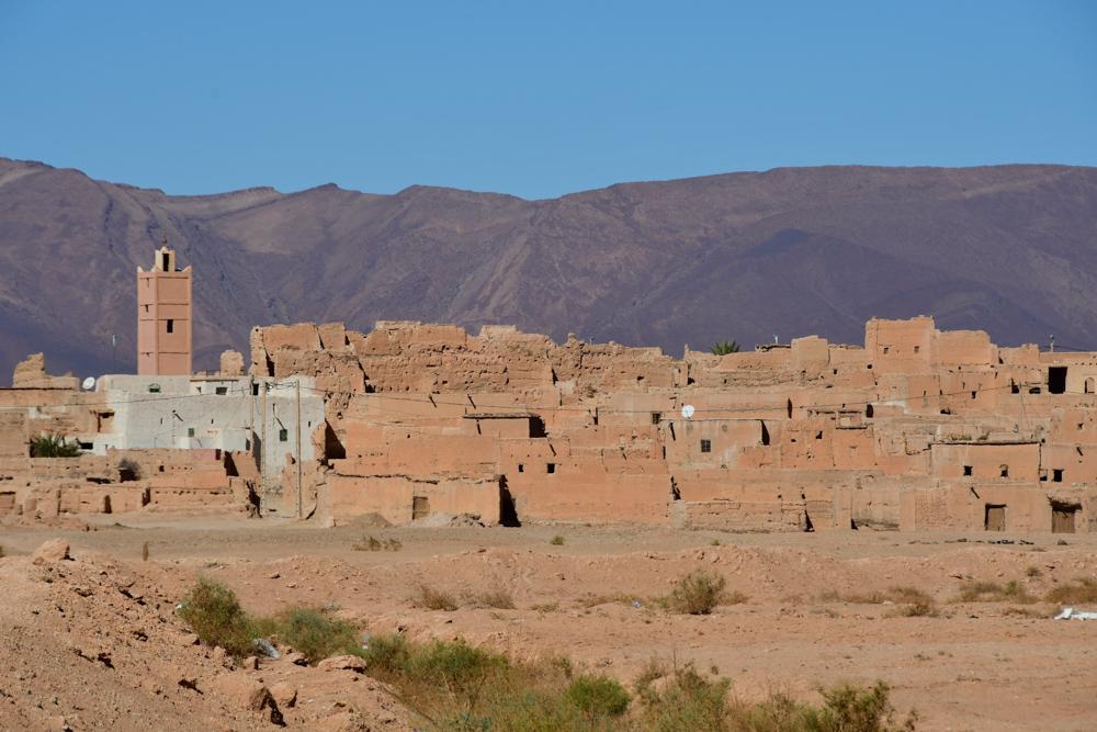 Dorf Moschee Lehmhaeuser