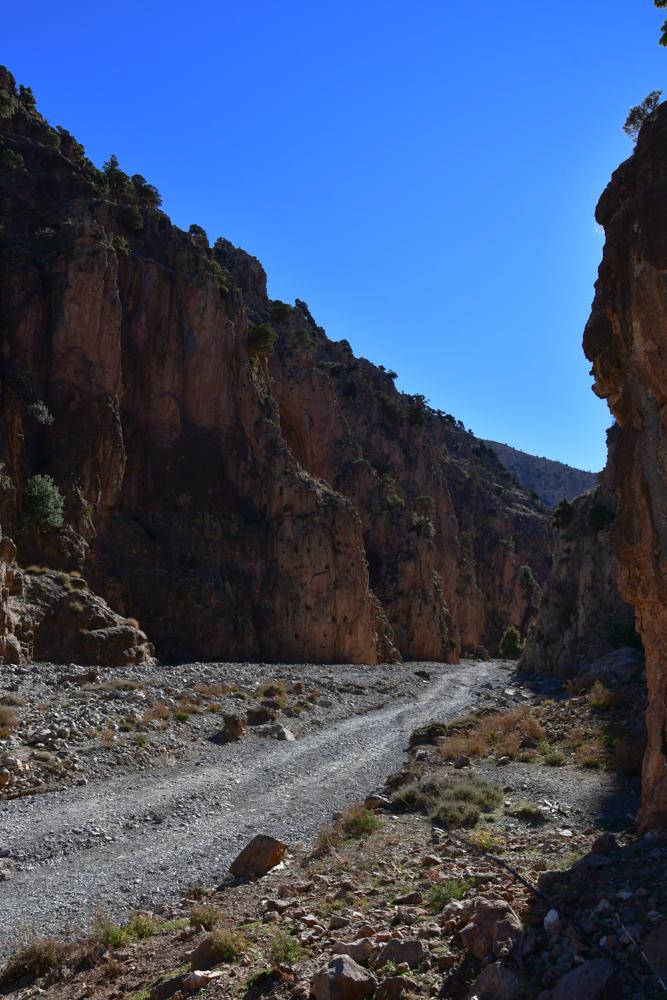 Schlucht Oued Jaffar Beginn