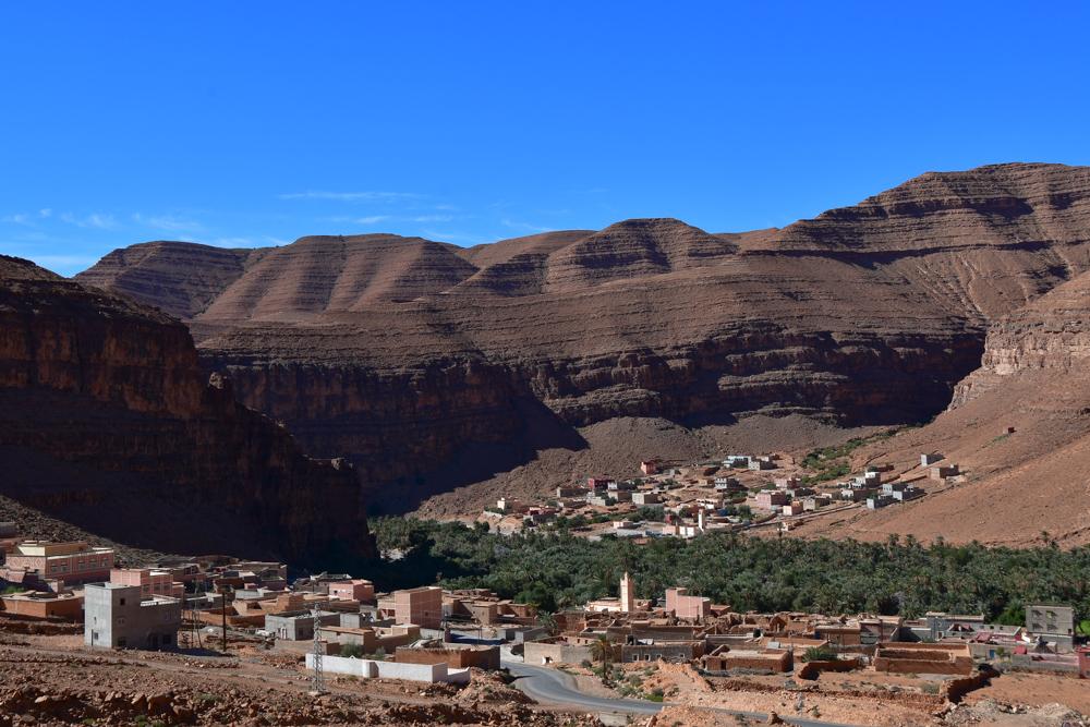 Anti Atlas Dorf im Tal