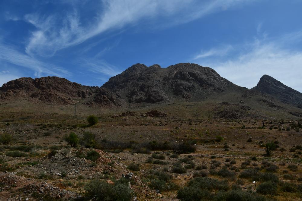 Berglandschaft um Tafraout Wolkenschleier