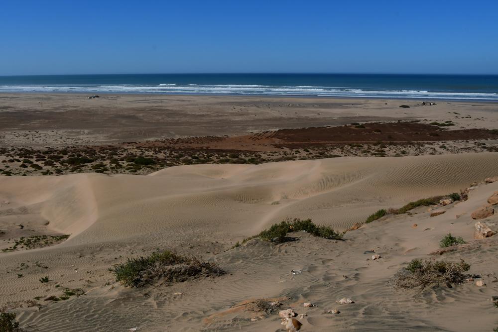 Sandduenen am Strand Plange Blanche