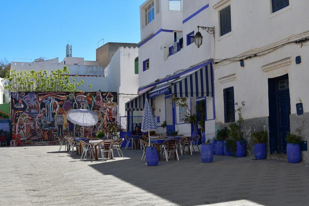 Asilah Platz in Medina Cafe