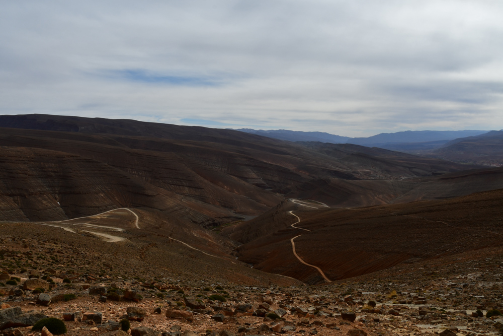Berge Passstrasse Kurven Piste Tizi n Ouano