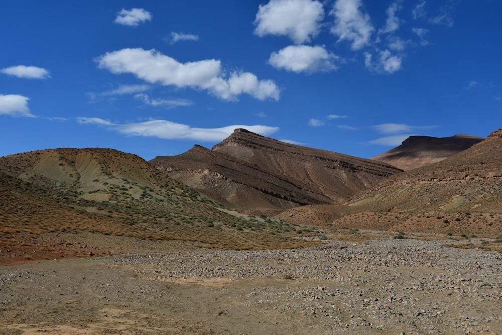 Berge vom hohen Atlas blauer Himmel