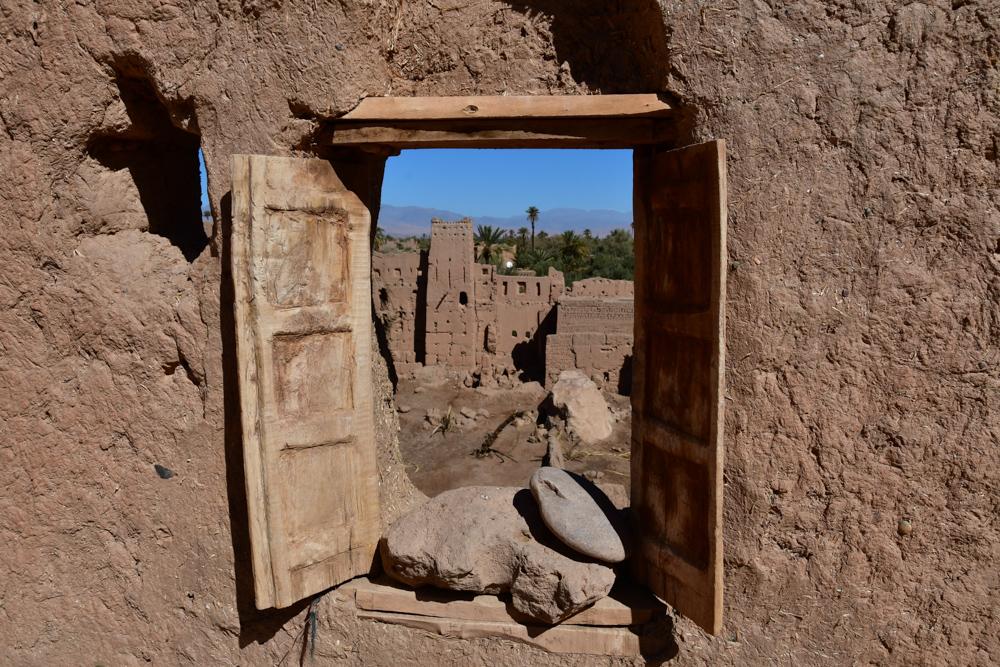 Fenster Kasbah Amridil Aussicht