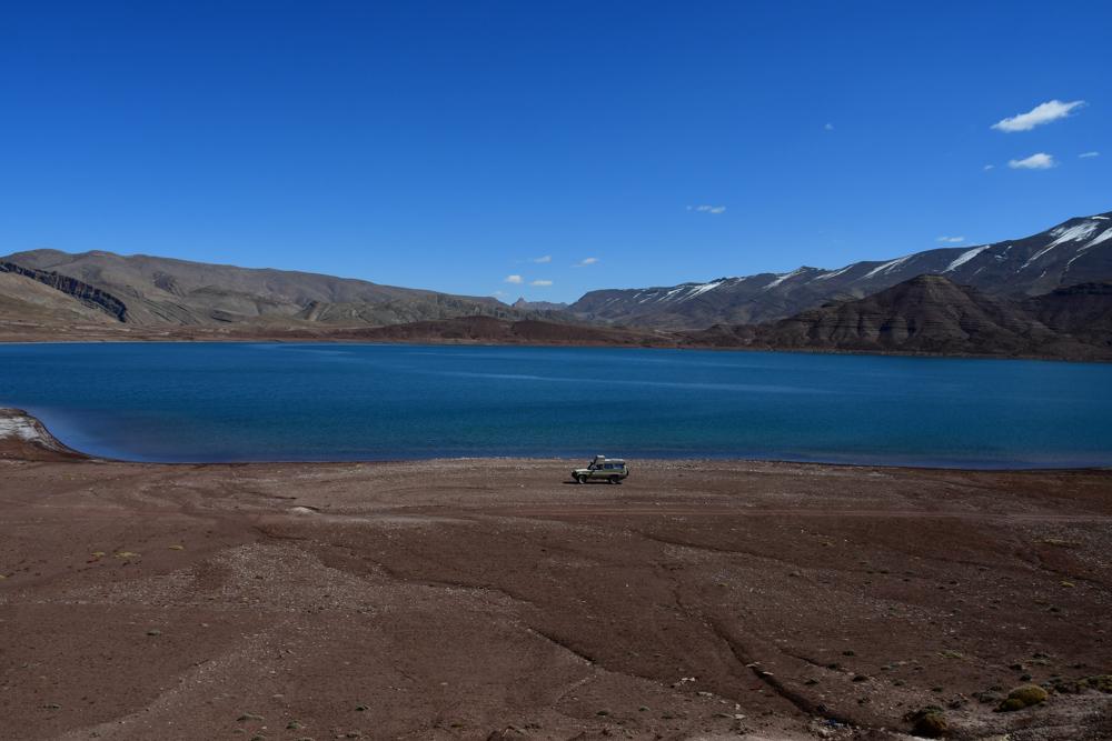 Lac d isli Manny am Ufer Berge