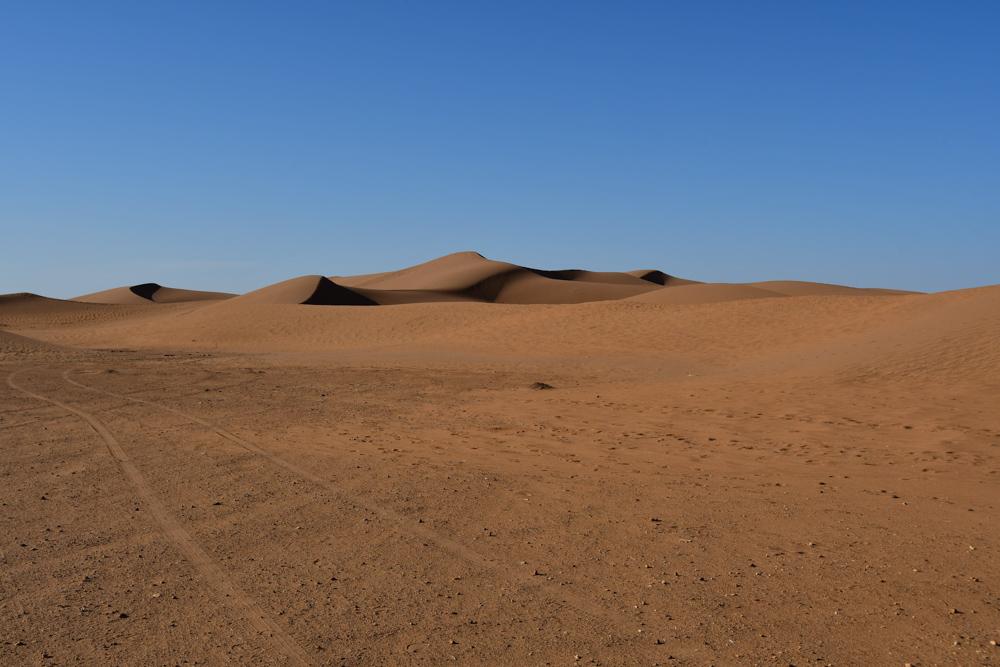 Sandduenen Richtung Erg Chegaga