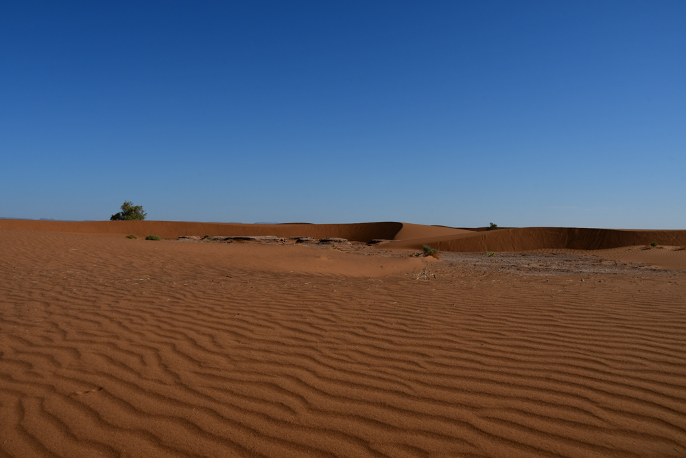 Sandlandschaft unterwegs Erg Chegaga