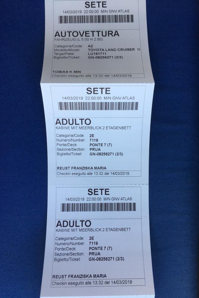 Ticket Fähre Tanger Med Sète