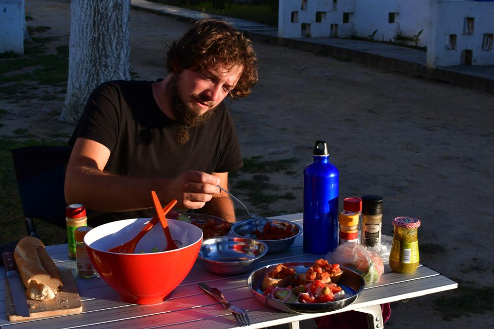 Tobi Griechischer Salat Tisch Abendsonne