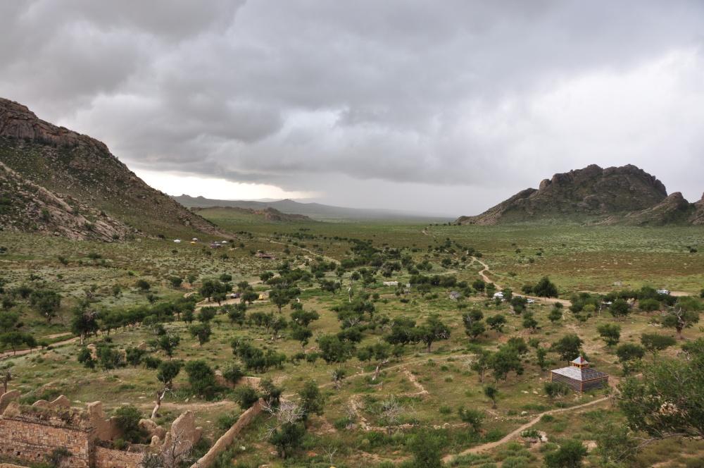 Erden Hamp Klosterruine und Aussicht ins Tal